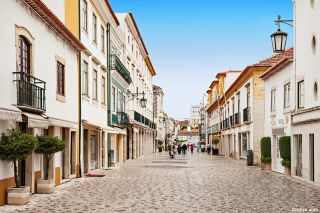 Calle peatonal en Tomar
