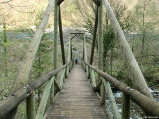 Puente sobre la Gave d'Aspe, de camino a Borce