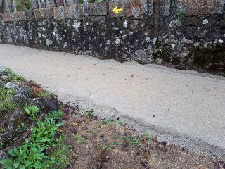Intervención semejante a las anteriores en el Camino Portugués (Foto: AGACS)