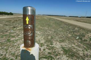 Señalización del Camino de Santiago en la provincia de Valladolid
