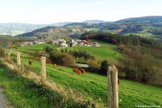 Paisaje entre O Castro (Lindín) y Mondoñedo