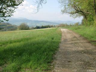 Hacia Charly, a la salida del Col du Mont-Sion