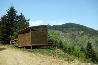 Observatorio de madera, del Col des Clarés al Col du Liourel