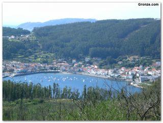 Vista de Corcubión y la ría