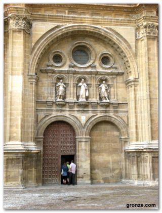 Entrada a la catedral, Santo Domingo de la Calzada