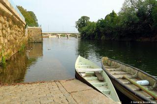 Embarcadero del río en Águeda