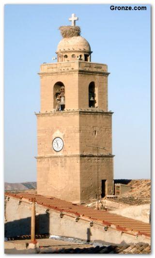 Torre de la iglesia de Escatrón