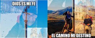 Fotomontaje de Félix en el Camino (del autor)