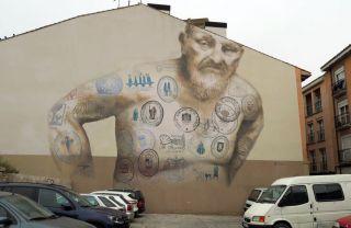 Sello Tatoo, el mural más famos del Camino Francés (Logroño)