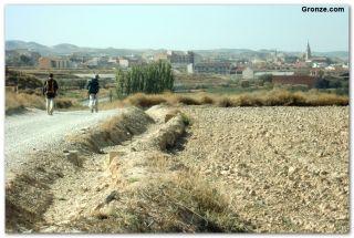 Llegando a Fuentes de Ebro