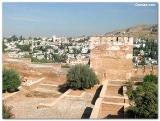 Barrio de Albaicín, desde la Alhambra