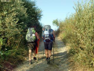 Peregrinos de camino a Horcadas