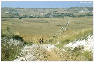 De camino a Hornillos del Camino, en otoño