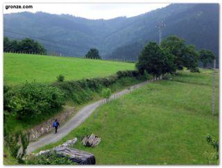 Camino entre Olaberria y Idiazabal