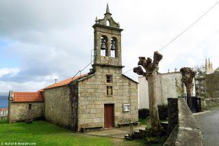 Iglesia de San Martiño de Duio, a la entrada de Fisterra
