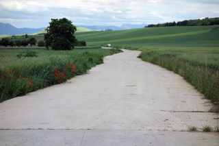 El tramo cementado antes de llegar a Redecilla del Camino