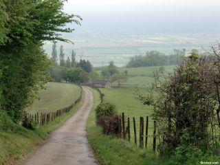 Bajando a la llanura de Bièvre, de camino a Le Grand-Lemps