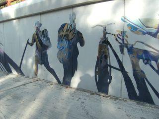 Murales a la salida de Logroño