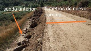La nueva pista construida encima de la antigua senda histórica de peregrinos, el Camino Real