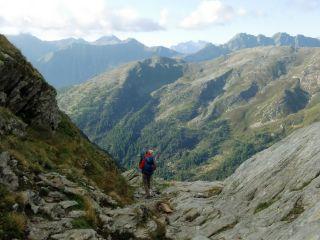 Bajada a Aosta desde el collado del Gran San Bernardo