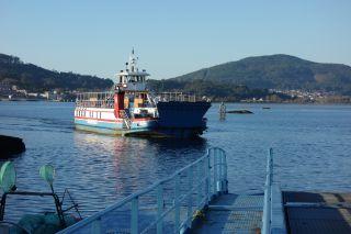 El ferry por el que los peregrinos del Camino Portugués de la Costa cruzan de Caminha a A Guarda