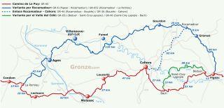 Camino de Le Puy: Variante de Rocamadour y variante del Valle del Célé