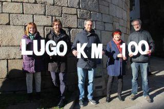 Los concejales del BNG de Lugo presentando su campaña