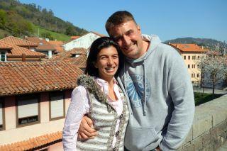 Patri y Xavi, propietarios de Casa Sueño (Salas, Camino Primitivo)