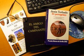 Diversas portadas de libros jacobeos