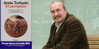 Jesús Torbado y portada de El Peregrino (Planeta, 1993)