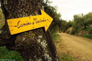 Señalización del Camino Mozárabe, de camino a Ventas del Carrizal