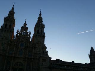 Amanecer en Santiago de Compostela.