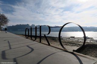 Río Douro a la salida de Porto