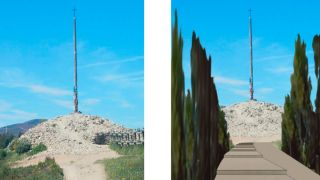 Comparativa del estado actual y del boulevar de cipreses que incluye el proyecto (imagen digitalizada de La Nueva Crónica - León)