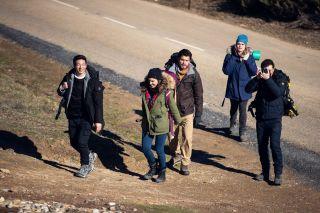 Los cinco protagonistas de la serie «3 Caminos»