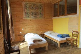 Un dormitorio de La Maison des Pèlerins, Aire-sur-l'Adour
