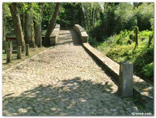Puente medieval sobre el río Baxoi
