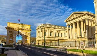 Puerta de Peyrou y Palacio de Justicia, Montpellier