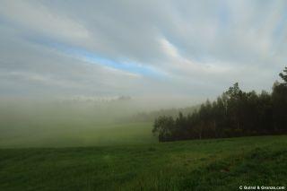 Niebla matinal a la salida de Vilaserío