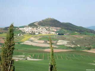 Vista de Biurrun desde Olcoz