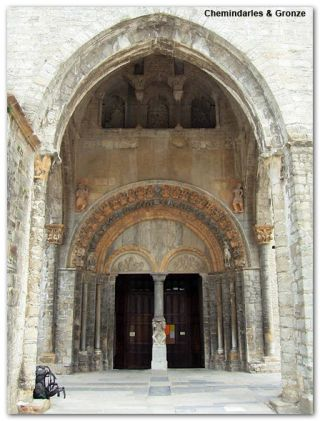Portada de la catedral de Oloron Sainte Marie