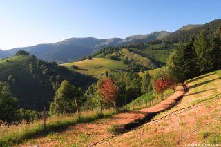 Paisaje de montaña a la salida de Germs-sur-l'Oussouet