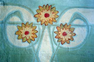 Detalle de las pinturas conservadas en las estancias de Casa Pasarín