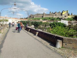 La Cité desde el Pont Vieux, Carcassonne