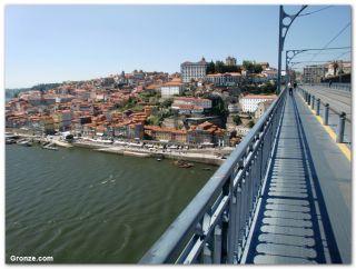 Vista desde el puente Luiz I, Porto