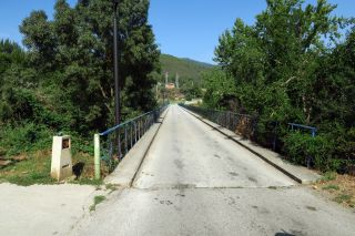 Puente sobre el Sil en Quereño, donde el camino entra en Galicia