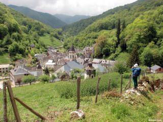 Saint-Lary desde el camino, a la salida