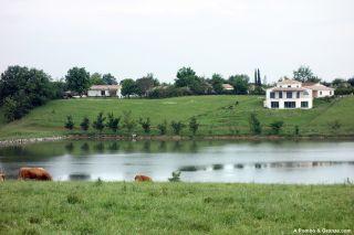 Laguna a la salida de Cahuzac