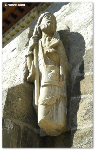 Imagen de Santiago Peregrino, iglesia de Santa Marta de Tera