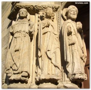 Esculturas de la catedral de Santiago de Compostela